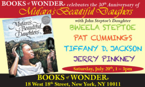 flyer for Books of Wonder 30th anniversary of Mufaro's Beautiful Daughters